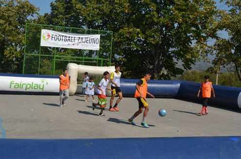Football Zajedno mini van tour activity